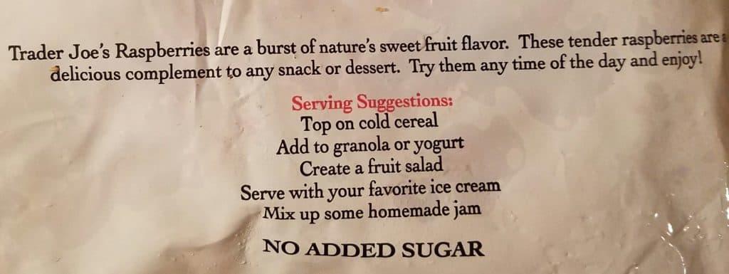 Trader Joe's Frozen Raspberries