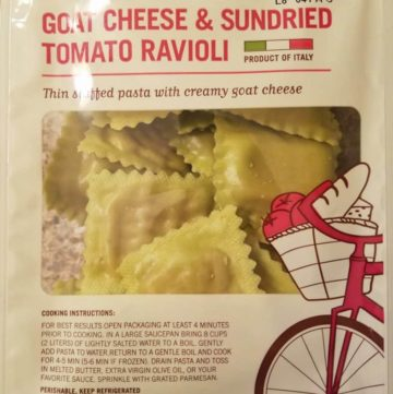 Trader Joe's Goat Cheese and Sundried Tomato Ravioli