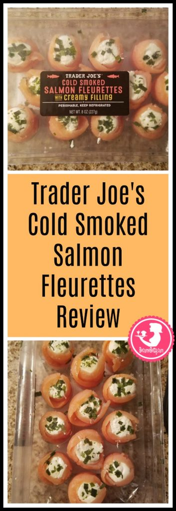 Trader Joe's Cold Smoked Salmon Fleurettes with Creamy Filling review. Want to know if this is something worth putting on your shopping list from Trader Joe's? All pins link to BecomeBetty.com where you can find reviews, pictures, thoughts, calorie counts, nutritional information, how to prepare, allergy information, and price.