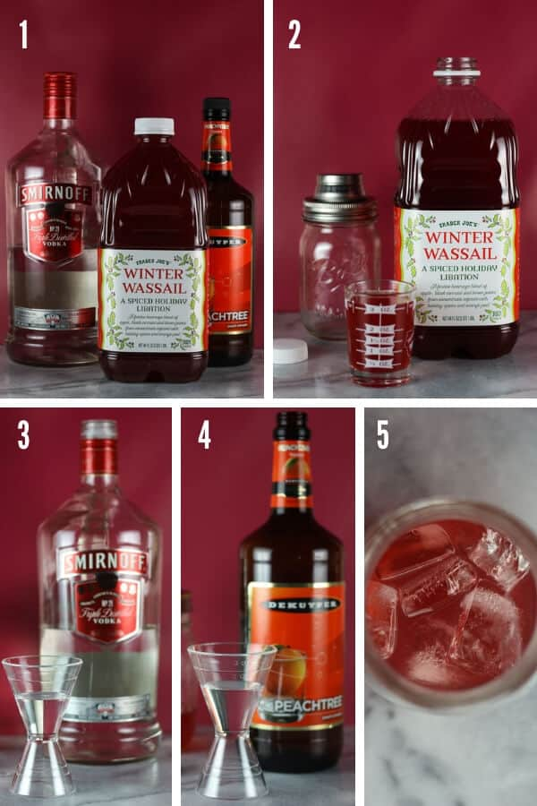 The 5 steps in making my Winter Wassail Cocktail