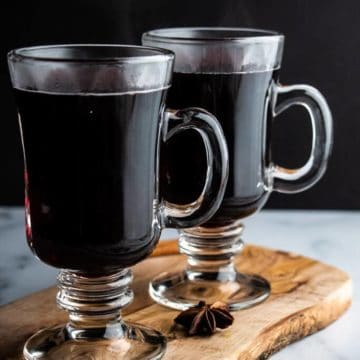Two full Winter Wassail glasses