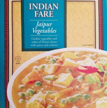An unopened box of Trader Joe's Jaipur Vegetables