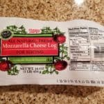 Trader Joes Mozzarella Cheese Log