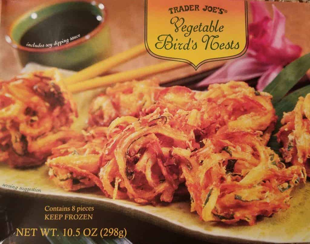 An unopened box of Trader Joes Vegetable Birds Nests