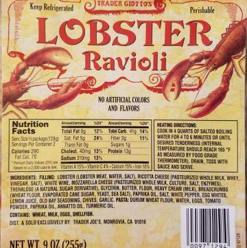 Trader Joe's Lobster Ravioli