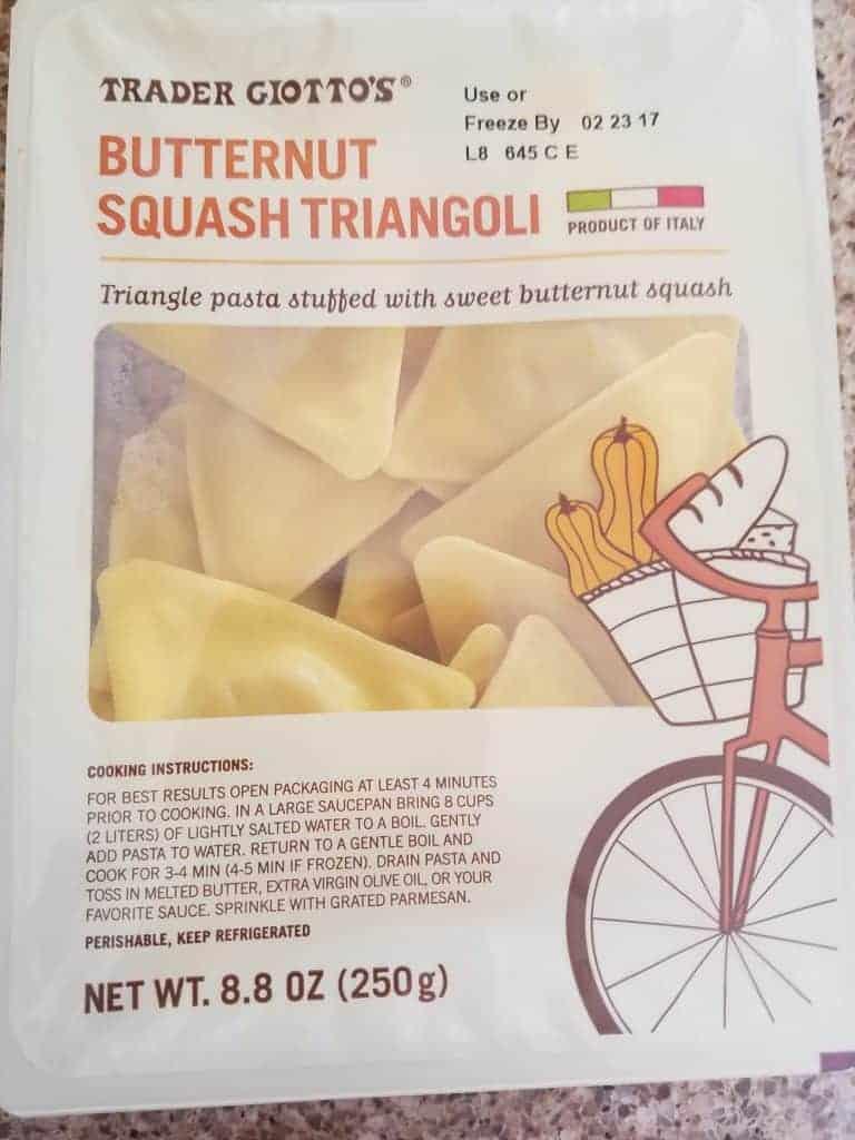 Trader Joe's Butternut Squash Triangoli