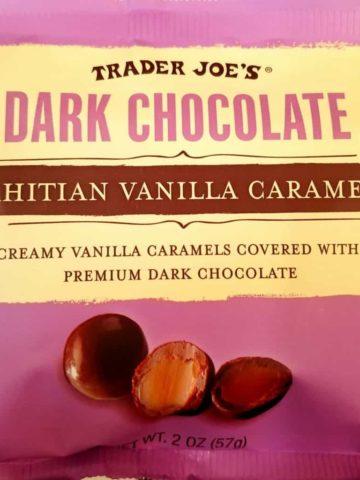 Trader Joes Dark Chocolate Tahitian Vanilla Caramels