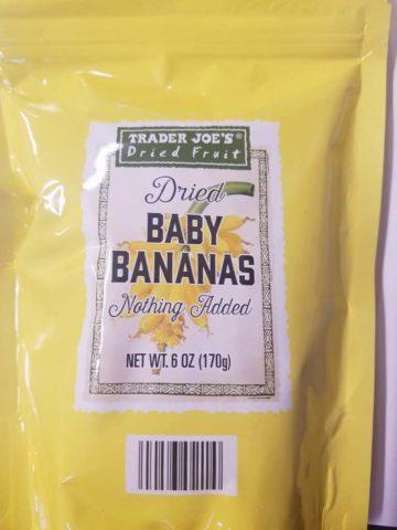 Trader Joes Dried Baby Bananas