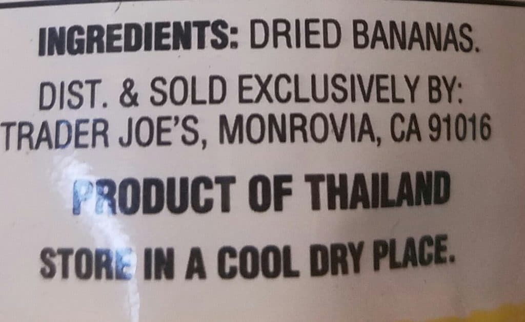 Trader Joe's Dried Baby Bananas