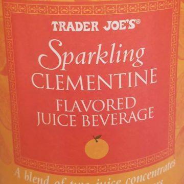 Trader Joes Sparkling Clementine Flavored Juice Blend