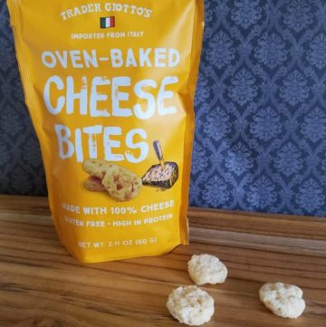 A package of Trader Joe's Oven Baked Cheese Bites with some out of the package