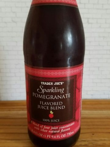 Trader Joes Sparkling Pomegranate Flavored Juice Blend