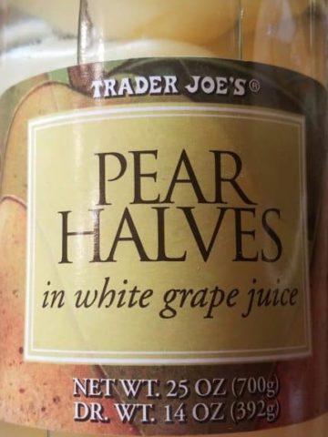 Trader Joes Pear Halves