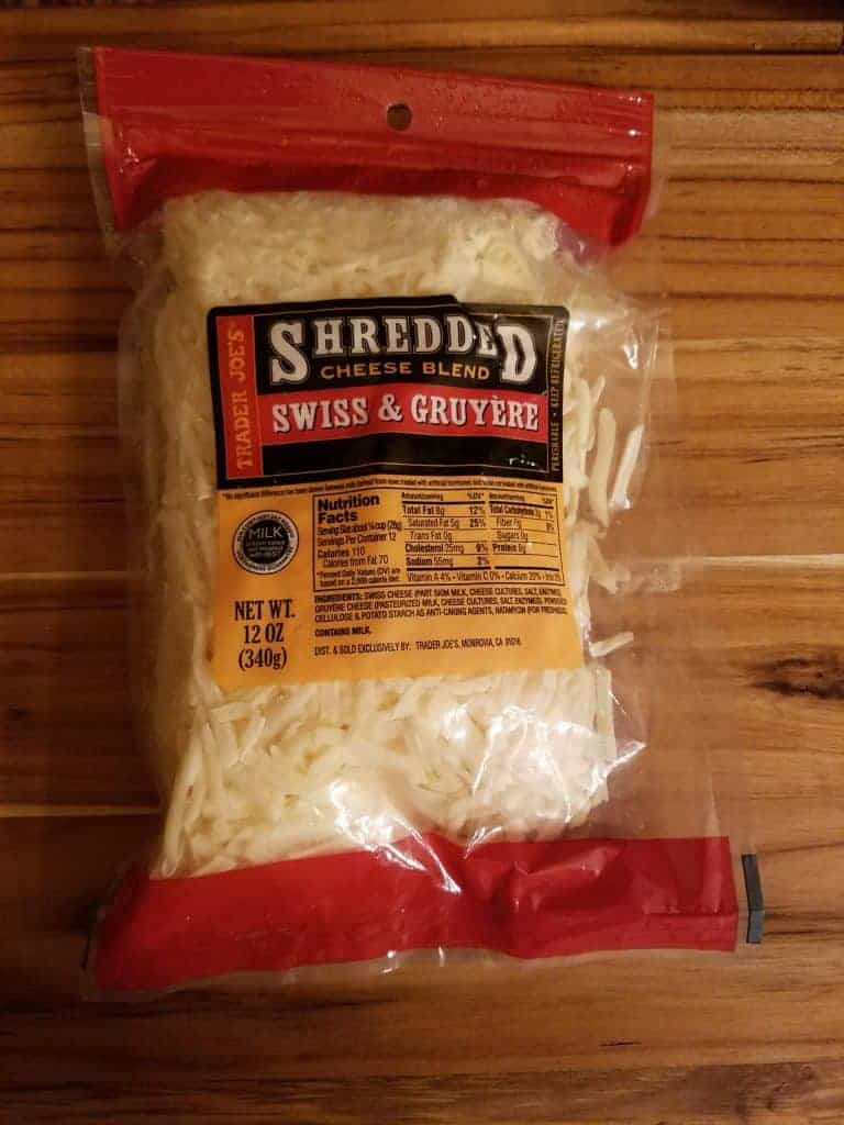 Trader Joes Shredded Swiss and Gruyere