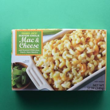 Trader Joe's Hatch Chile Mac and Cheese box