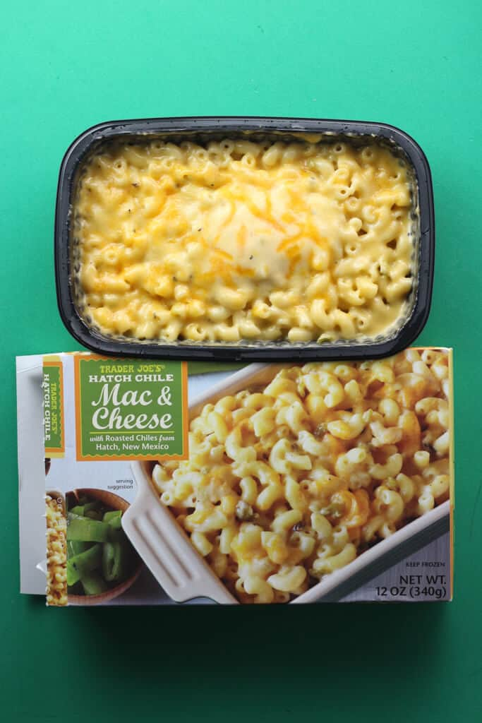 Trader Joe's Hatch Chile Mac and Cheese fully cooked