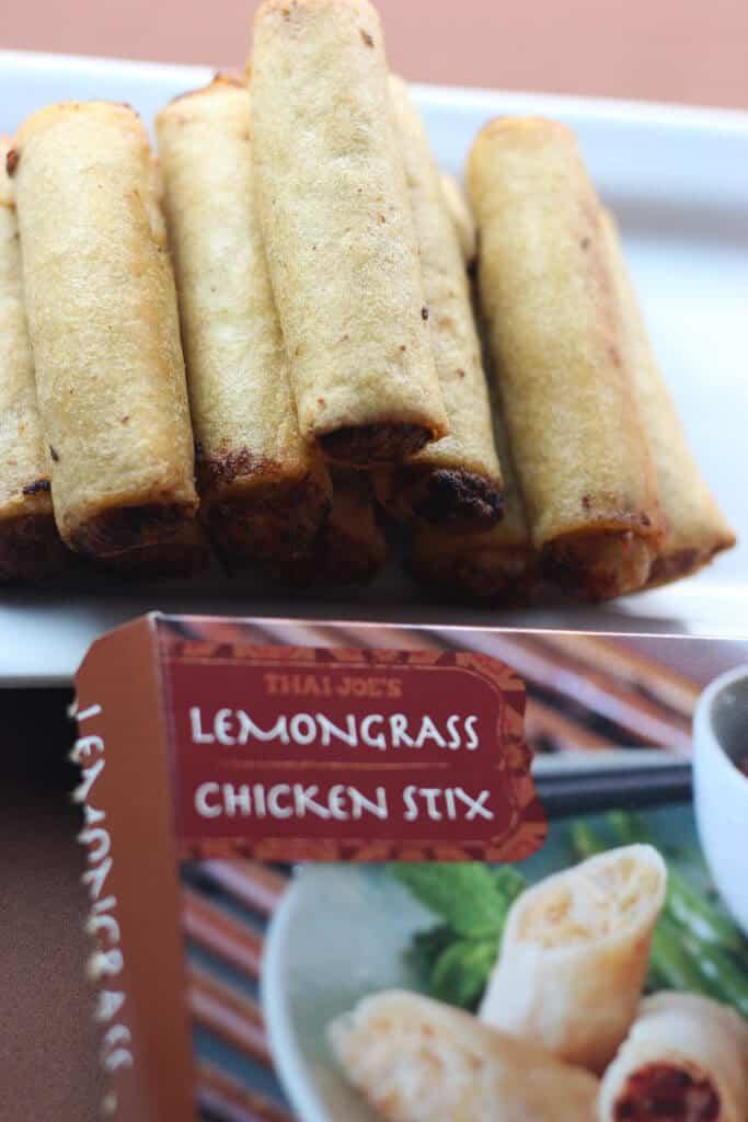 Trader Joe's Lemongrass Chicken Stix fully cooked