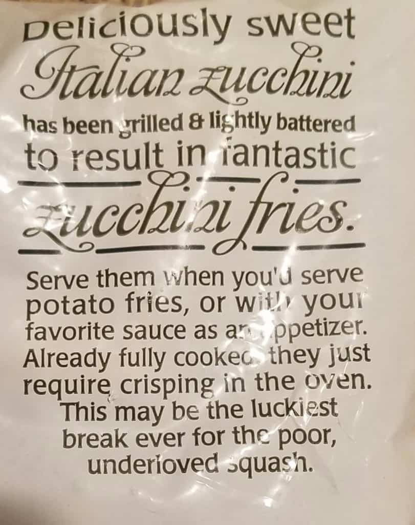 Trader Joe's Zucchini Fries