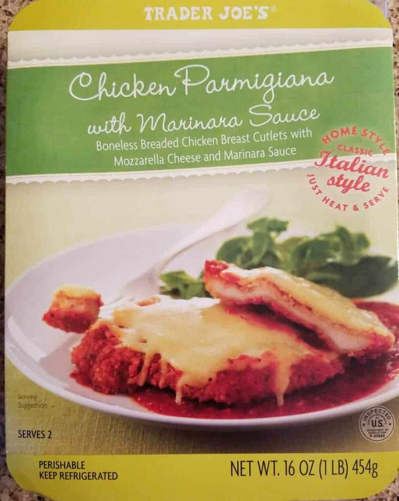 Trader Joe's Chicken Parmigiana with Marinara