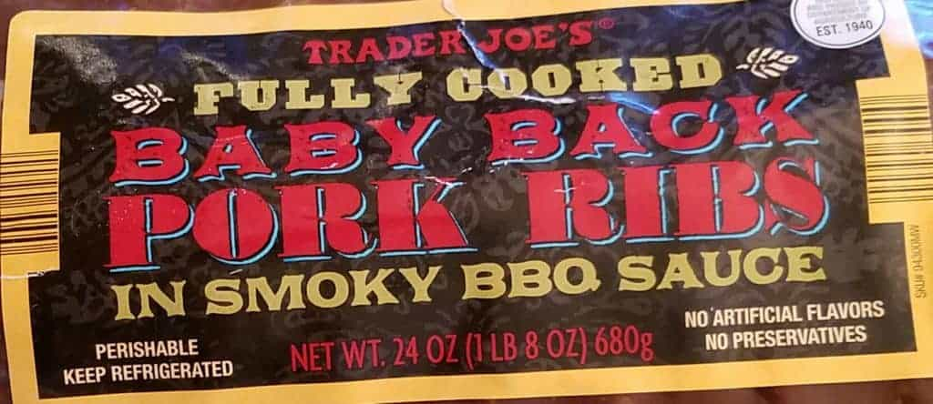 Trader Joes Fully Cooked Baby Back Pork Ribs