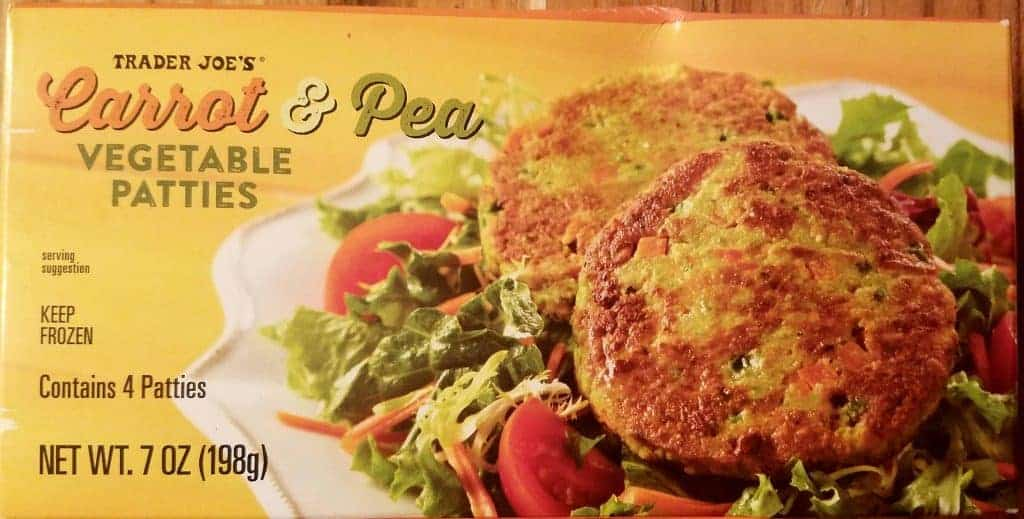 Trader Joes Carrot and Pea Vegetable Patties