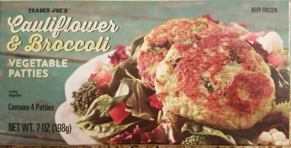 Trader Joe's Cauliflower and Broccoli Vegetable Patties