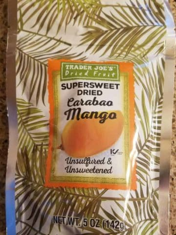 Trader Joe's Super Sweet Dried Carabao Mango