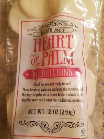 Trader Joe's Heart of Palm Medallions