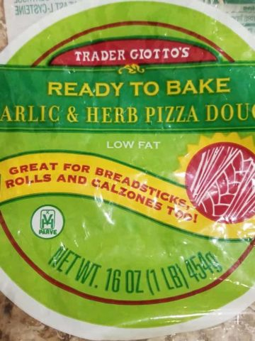 Trader Joes Garlic and Herb Pizza Dough