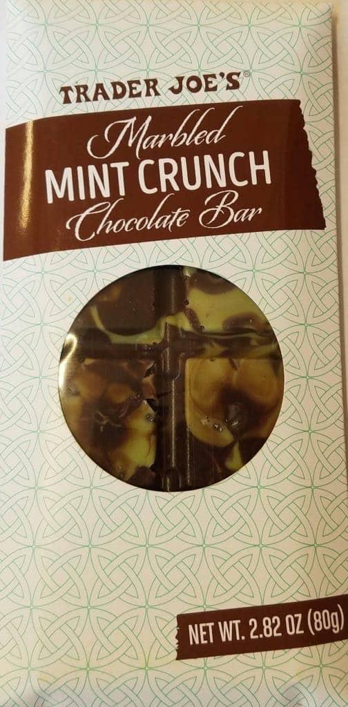 Trader Joe's Marbled Mint Crunch Chocolate Bar