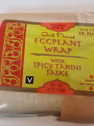 Trader Joe's Eggplant Wrap with Spicy Tahini Sauce