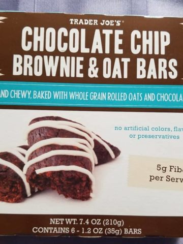 Trader Joes Chocolate Chip Brownie and Oat Bars