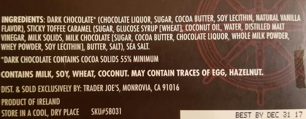 Trader Joe's Dark Chocolate Sea Salt and Malt Vinegar Caramels