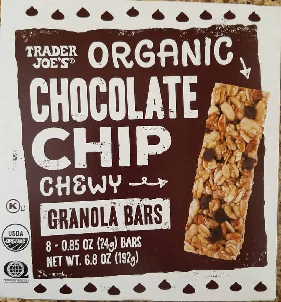 Trader Joe's Organic Chocolate Chip Granola Bars
