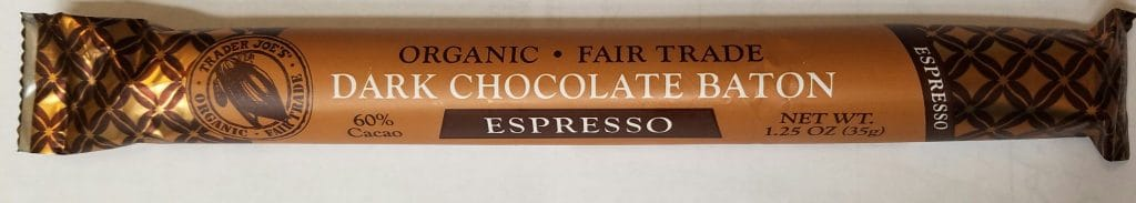 Trader Joe's Dark Chocolate Espresso Baton