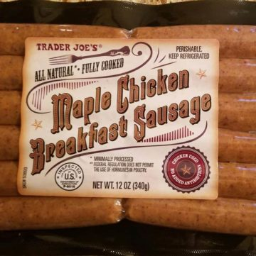 Trader Joe's Maple Chicken Breakfast Sausage