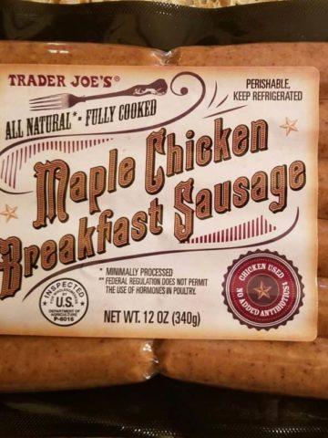 Trader Joe's Maple Chicken Breakfast SausageChicken