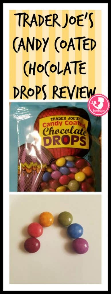 Trader Joe's Candy Coated Chocolate Drops review. Want to know if this is something worth putting on your shopping list from Trader Joe's? All pins link to BecomeBetty.com where you can find reviews, pictures, thoughts, calorie counts, nutritional information, how to prepare, allergy information, and price.