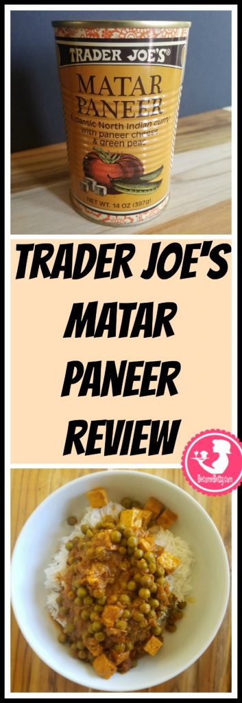 Trader Joe's Matar Paneer review. Want to know if this is something worth putting on your shopping list from Trader Joe's? All pins link to BecomeBetty.com where you can find reviews, pictures, thoughts, calorie counts, nutritional information, how to prepare, allergy information, price, and how to prepare each product.