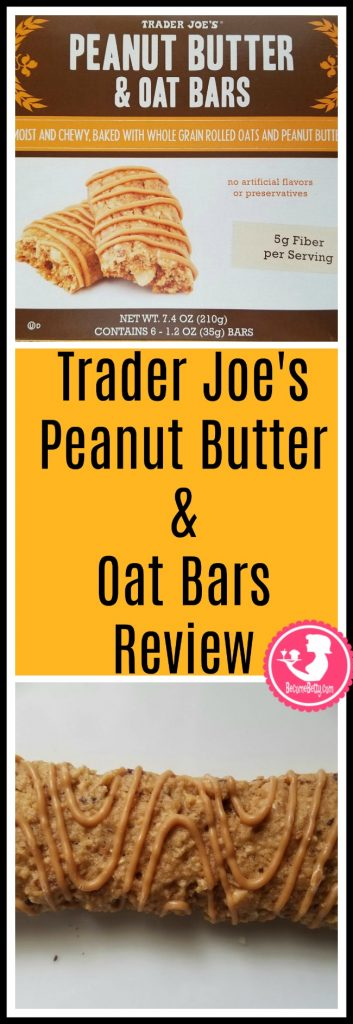 Trader Joe's Peanut Butter and Oat Bars review. Want to know if this is something worth putting on your shopping list from Trader Joe's? All pins link to BecomeBetty.com where you can find reviews, pictures, thoughts, calorie counts, nutritional information, how to prepare, allergy information, price, and how to prepare each product.