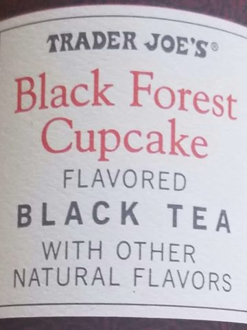 black forest cupcake tea