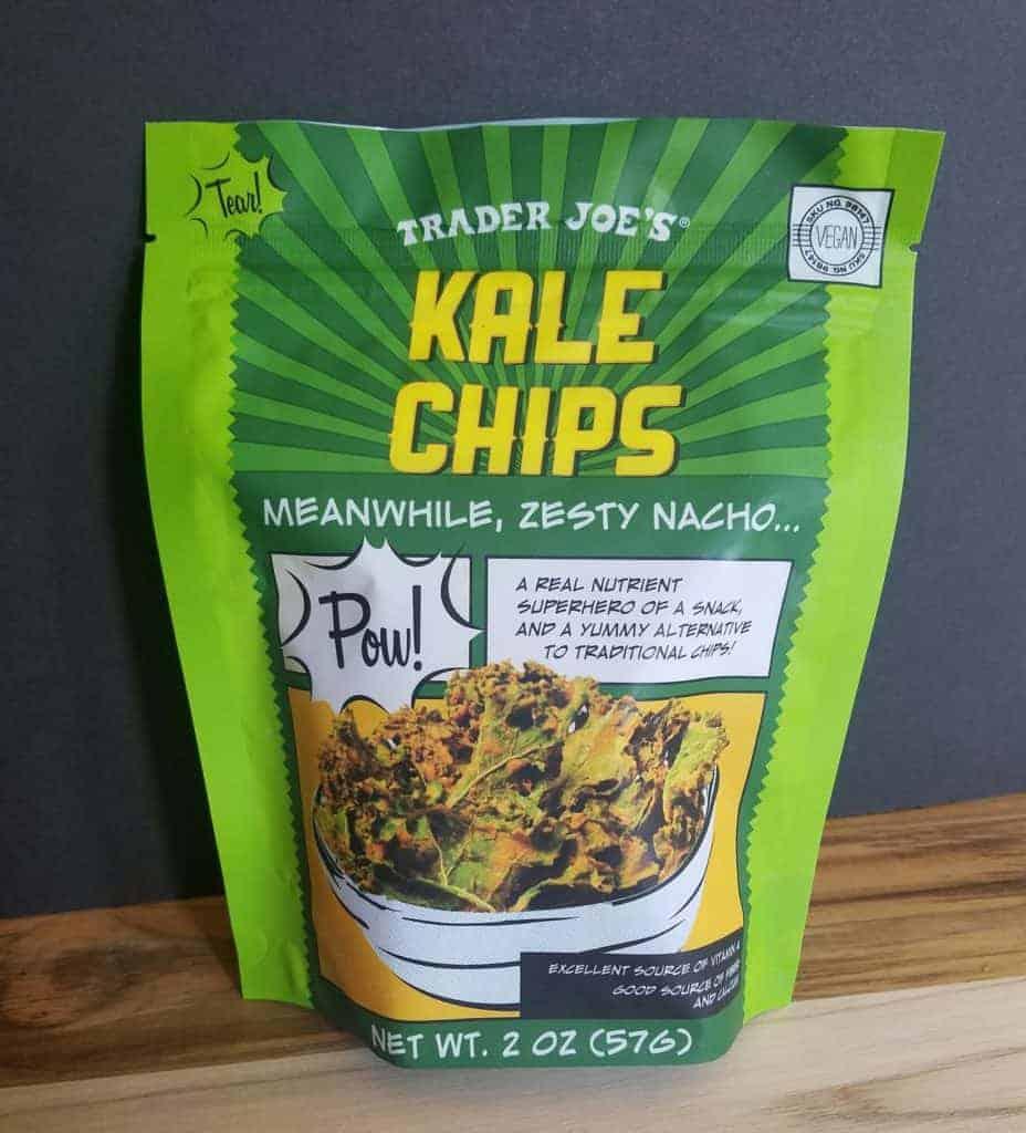 Trader Joe's Nacho Kale Chips Bag