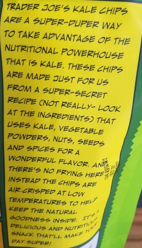 Trader Joes Nacho Kale Chips description