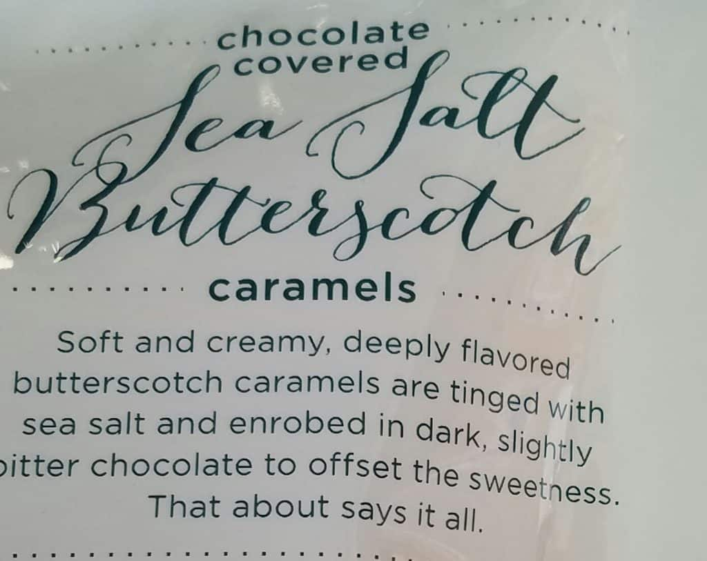 Trader Joe's Chocolate Covered Sea Salt Butterscotch Caramels