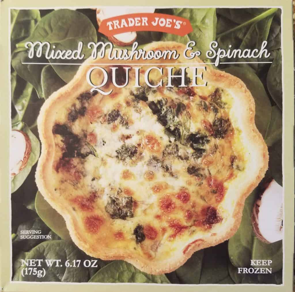 Trader Joe's Mixed Mushroom and Spinach Quiche