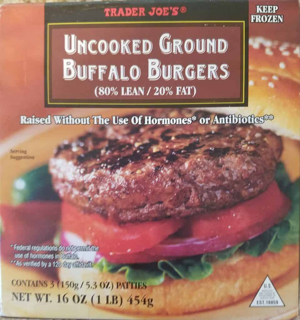 Trader Joe's Ground Buffalo Burgers