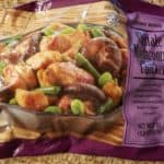 An unopened bag of Trader Joe's Shiitake Mushroom Chicken