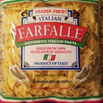 Trader Joe's Bowtie Pasta (Farfalle)