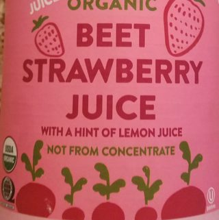 Trader Joe's Organic Beet Strawberry Juice