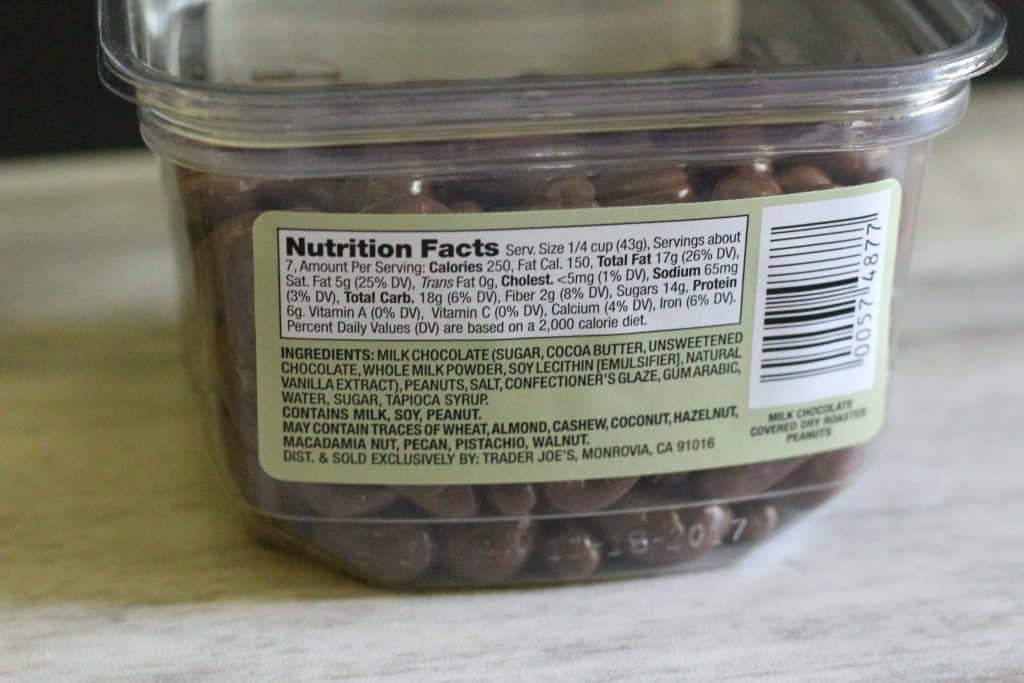 Trader Joe's Milk Chocolate Covered Dry Roasted and Salted Virginia Peanuts